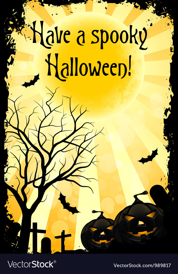 Abstract halloween card vector | Price: 1 Credit (USD $1)