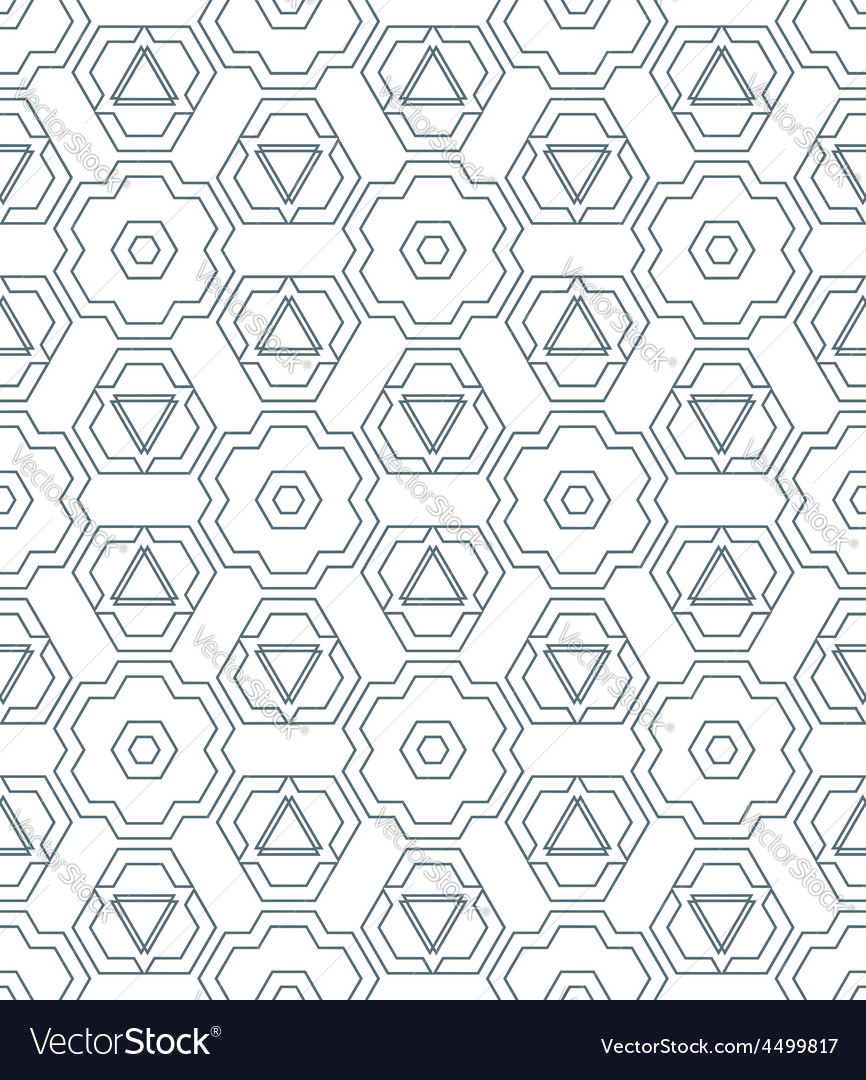 Dark monochrome color outline abstract geometric vector | Price: 1 Credit (USD $1)