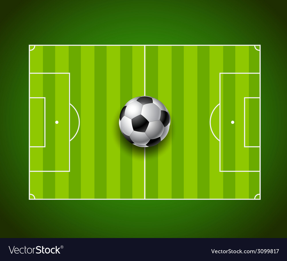 Football field with ball background design vector | Price: 1 Credit (USD $1)