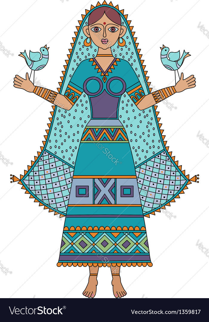 Indian girl vector | Price: 1 Credit (USD $1)