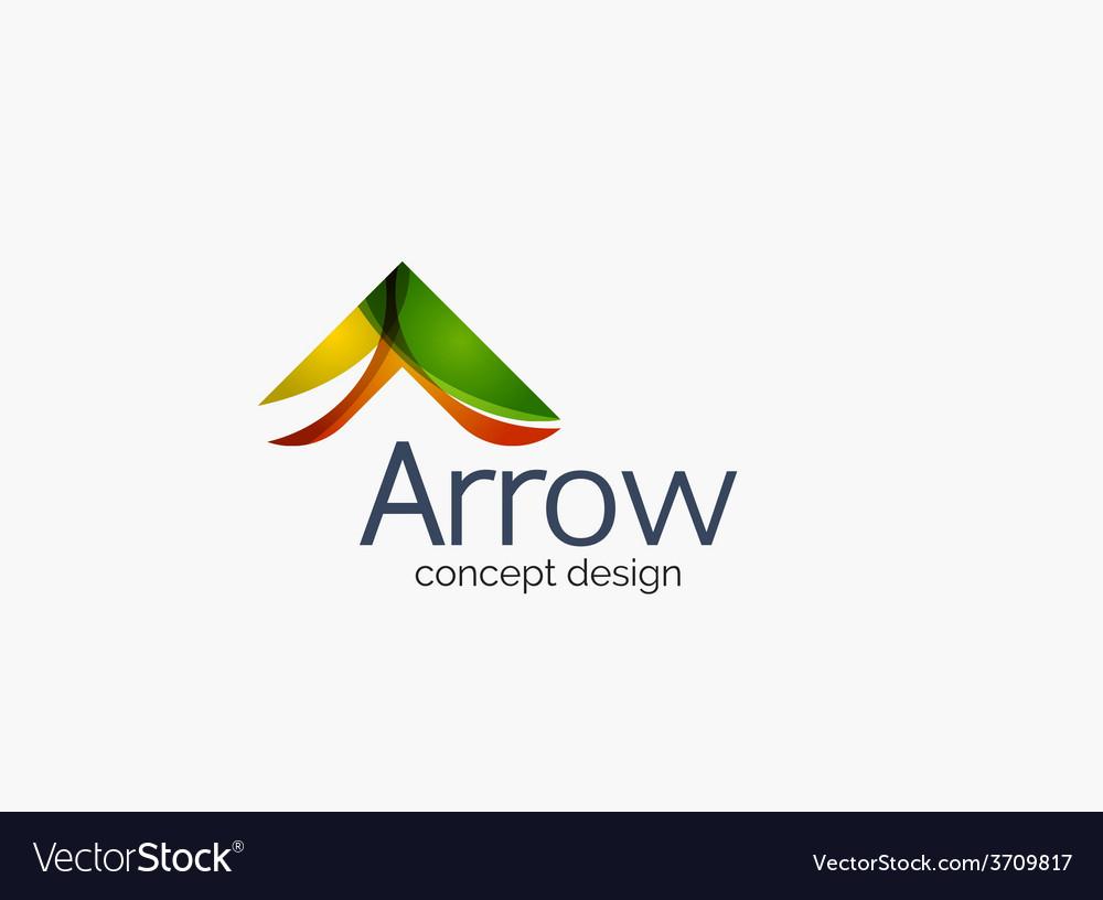 Modern company logo clean glossy design vector | Price: 1 Credit (USD $1)