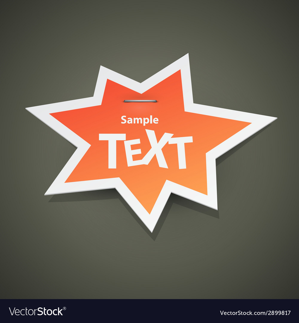 Paper sticker with empty space vector | Price: 1 Credit (USD $1)