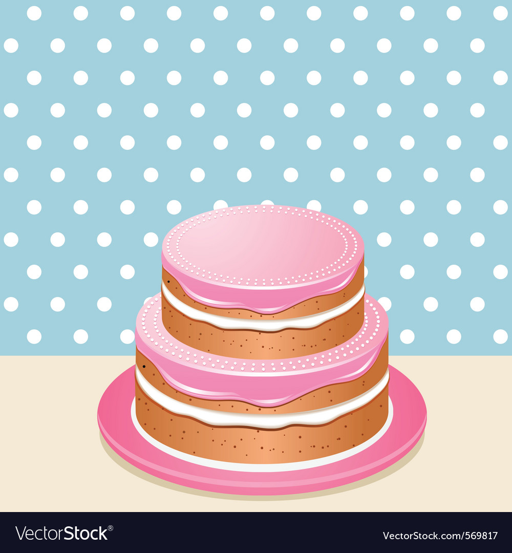 Pink iced cake vector | Price: 1 Credit (USD $1)
