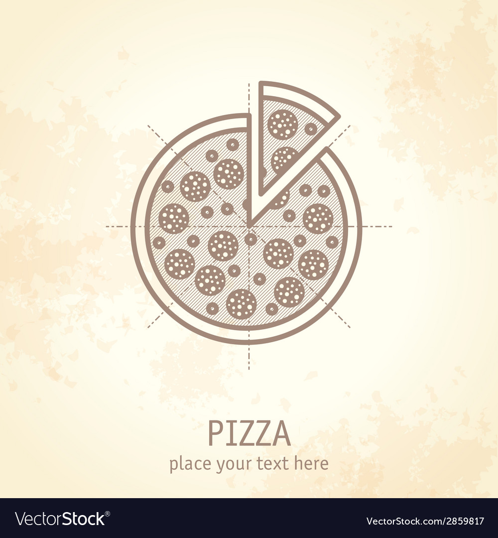 Pizza draft vector | Price: 1 Credit (USD $1)