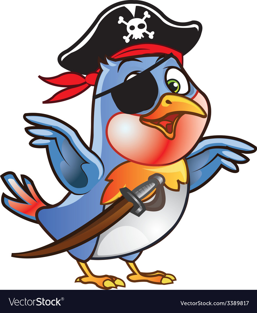 Robin bird pirate vector | Price: 1 Credit (USD $1)