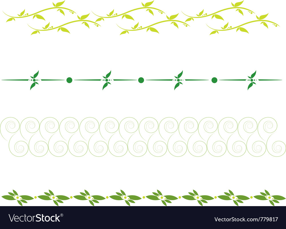 Set of dividing lines vector | Price: 1 Credit (USD $1)