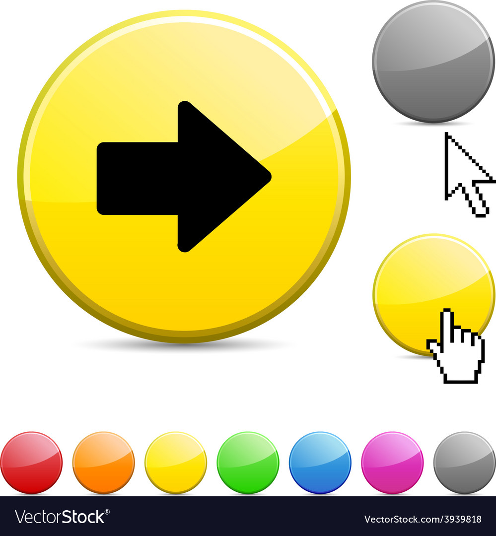 Arrow glossy button vector | Price: 1 Credit (USD $1)