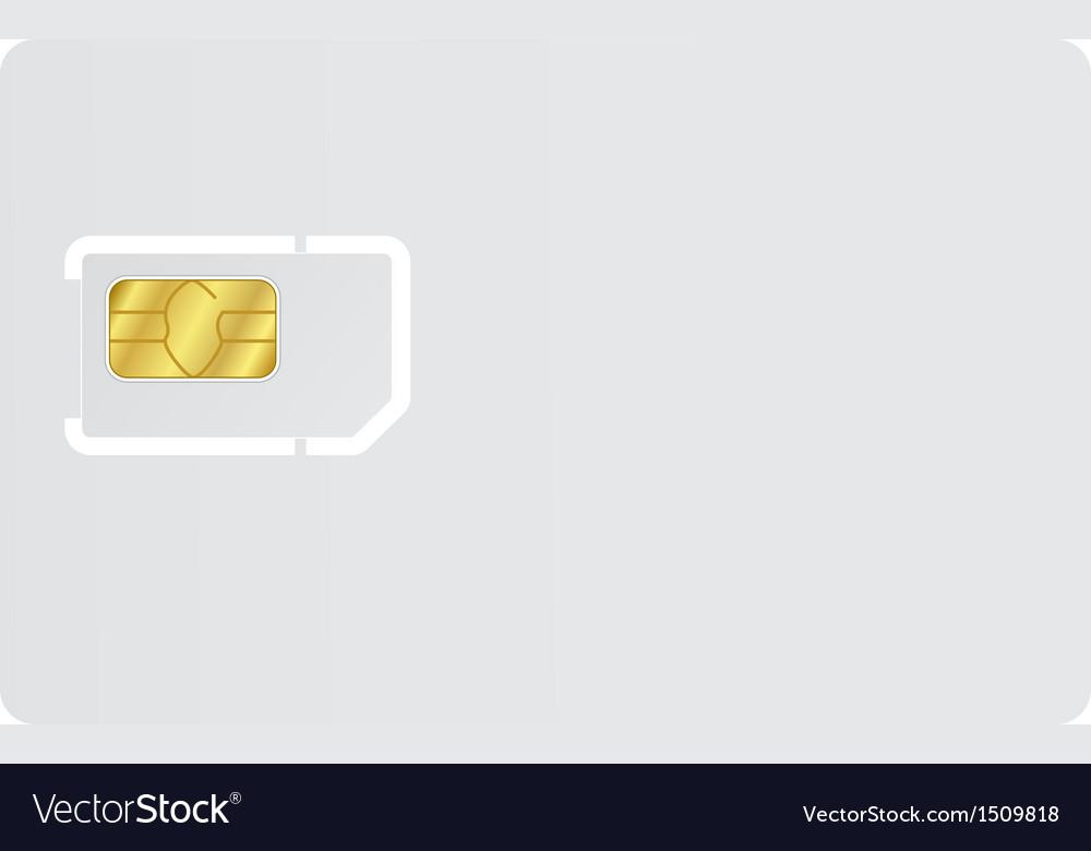 Blank sim card vector | Price: 1 Credit (USD $1)