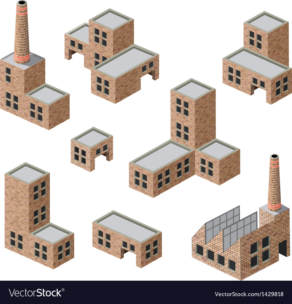 Buildings of brick vector | Price: 1 Credit (USD $1)