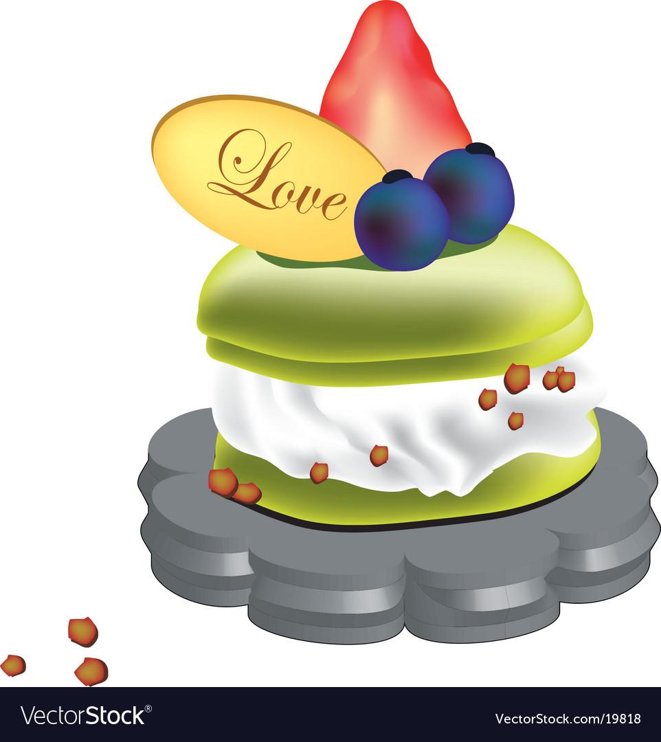Creamy puff cake vector | Price: 1 Credit (USD $1)
