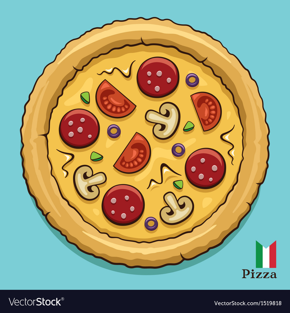 Hot pizza vector | Price: 1 Credit (USD $1)