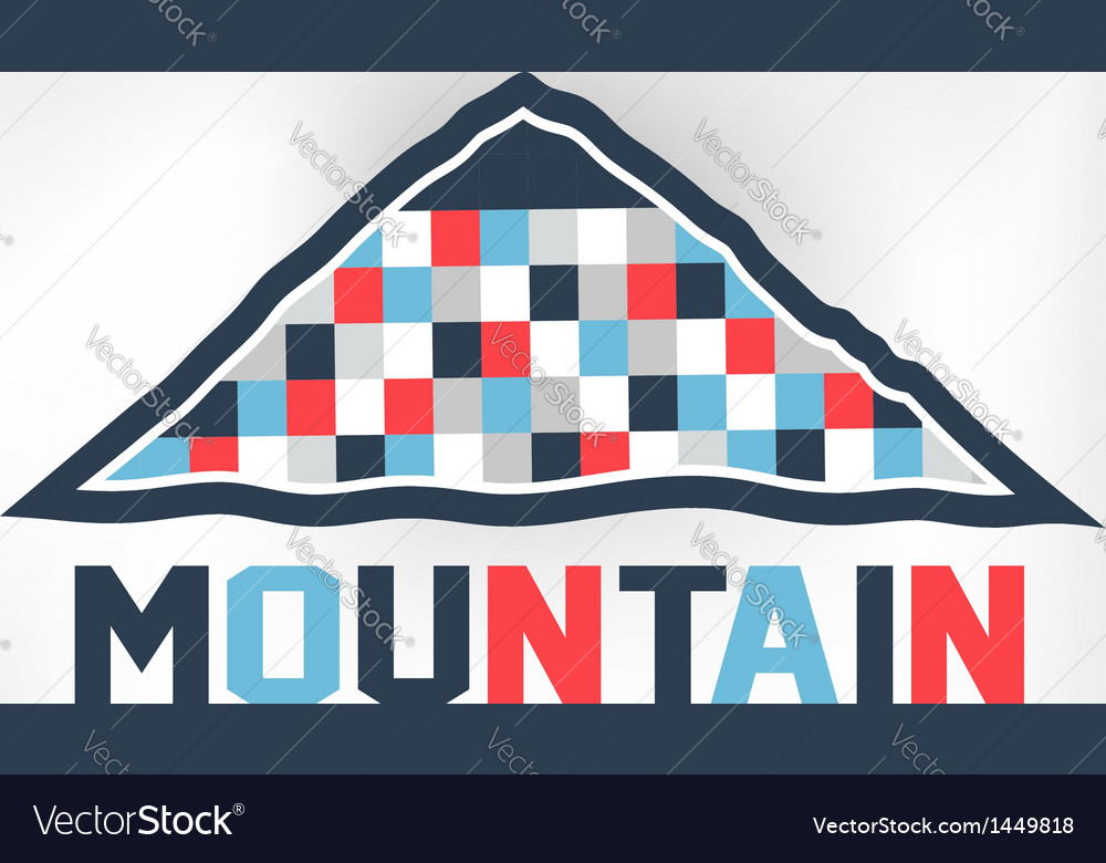Mountain blocks vector | Price: 1 Credit (USD $1)
