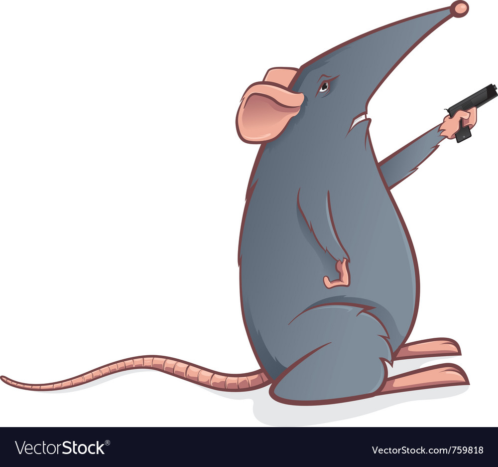 Mouse with gun vector | Price: 1 Credit (USD $1)
