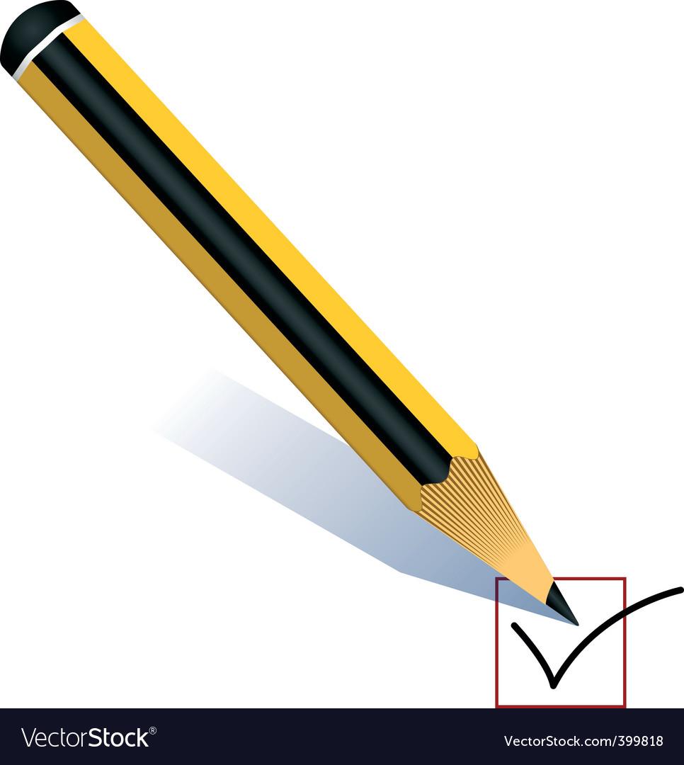 Pencil voting vector | Price: 1 Credit (USD $1)