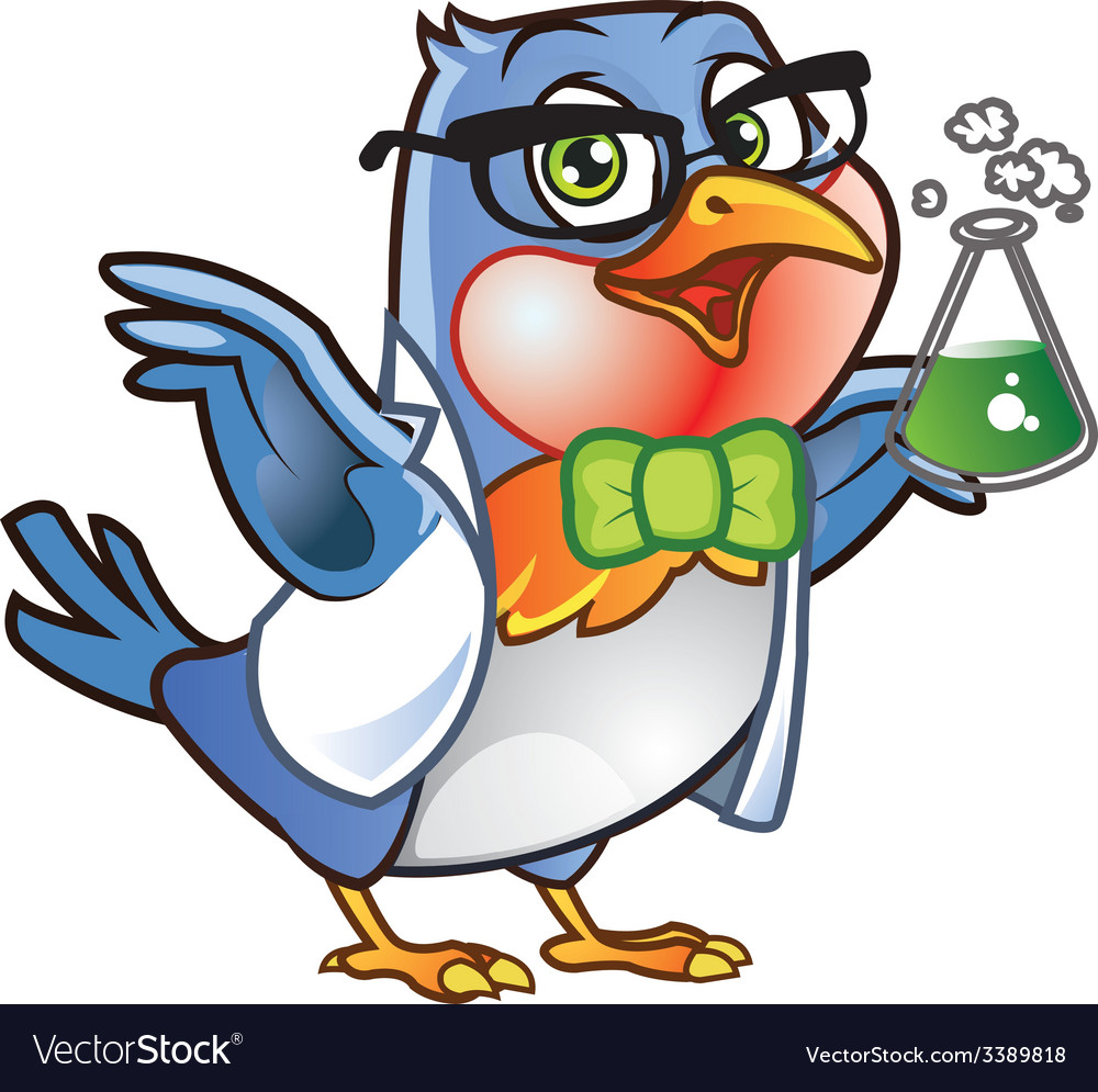 Robin bird scientist vector | Price: 1 Credit (USD $1)
