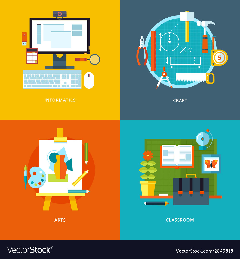 School and education icons set for web design and vector | Price: 1 Credit (USD $1)