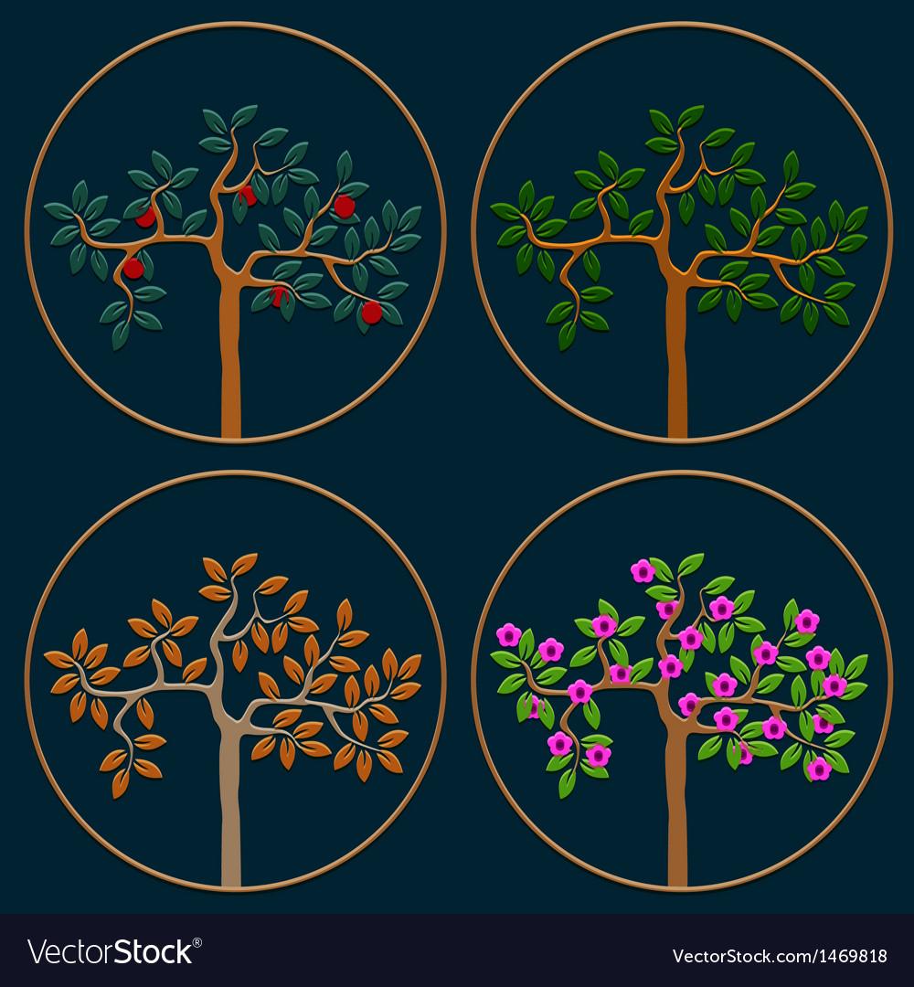 Seasonal trees vector   Price: 1 Credit (USD $1)