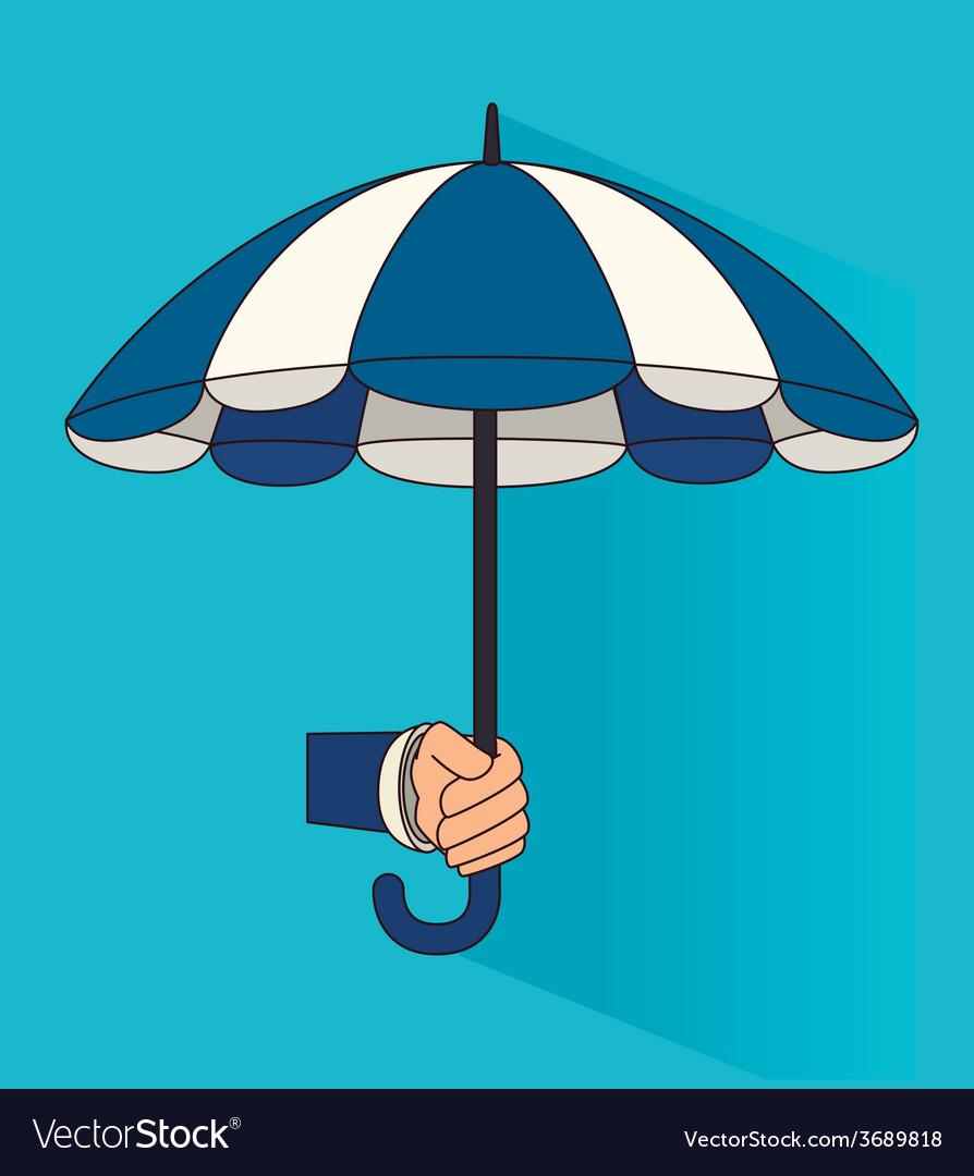 Umbrella design over blue background vector | Price: 1 Credit (USD $1)