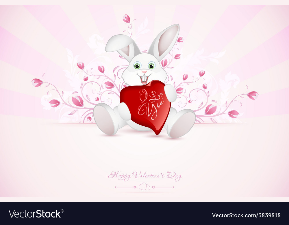 Valentines day greeting card vector | Price: 3 Credit (USD $3)