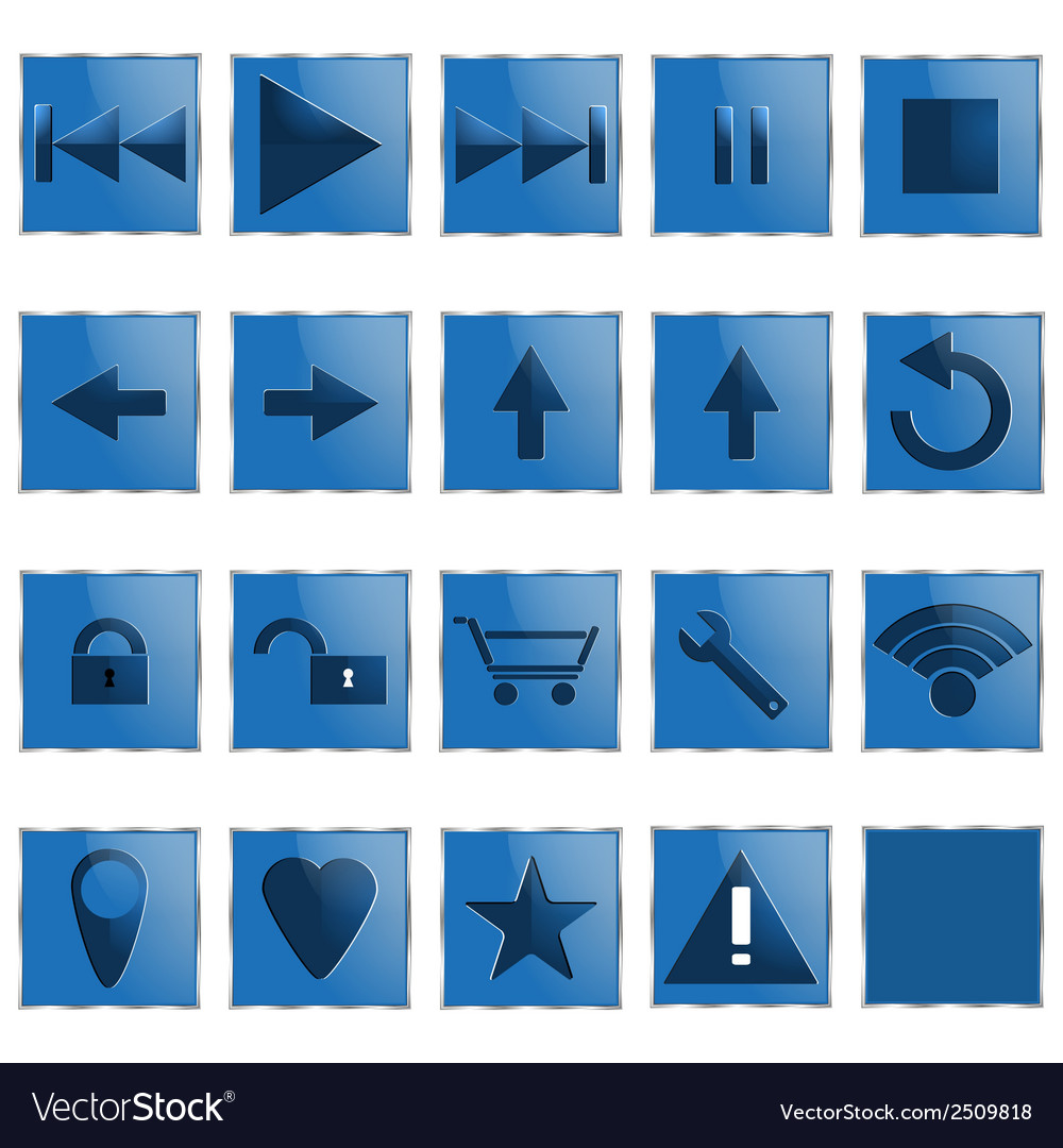 Web computer icons vector | Price: 1 Credit (USD $1)