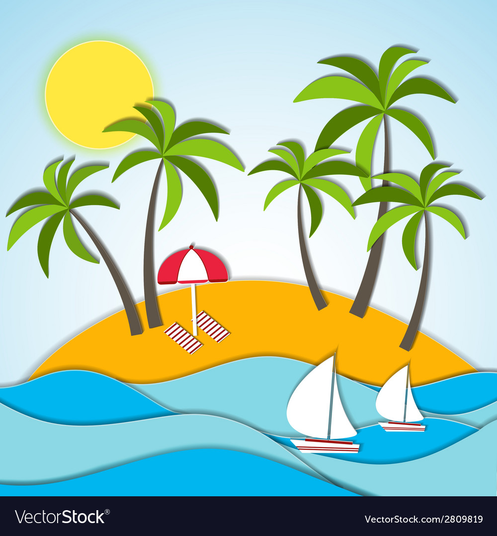 A summer vacation vector | Price: 1 Credit (USD $1)