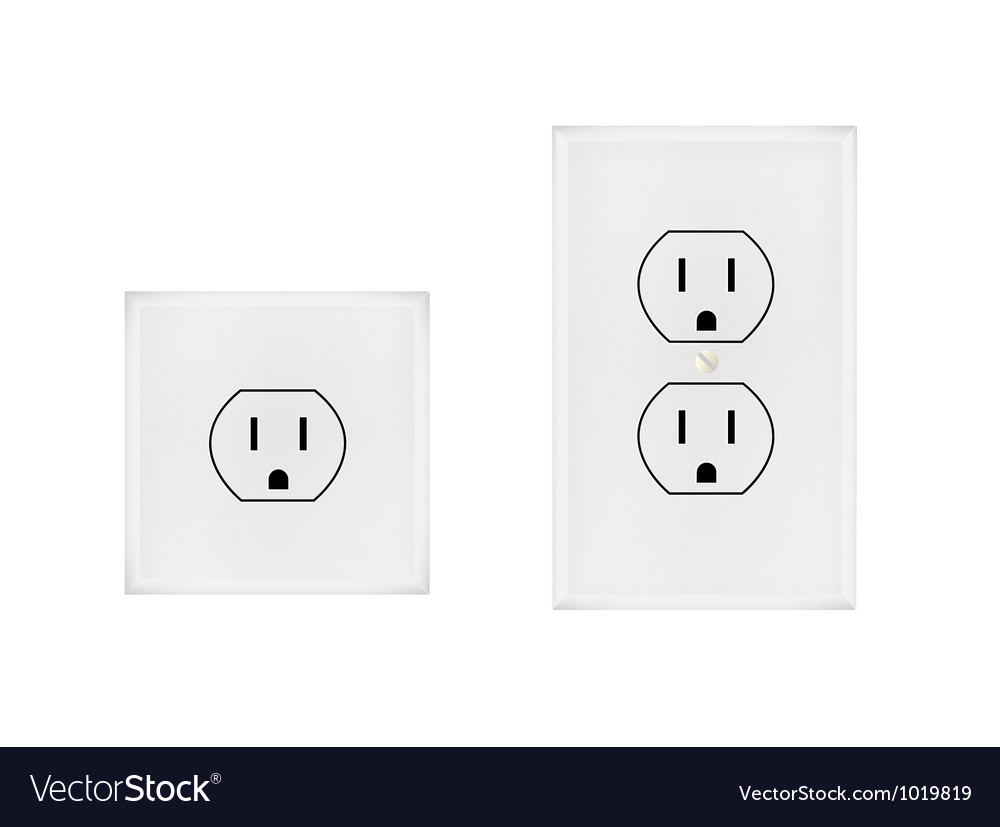 American electrical outlet vector | Price: 1 Credit (USD $1)