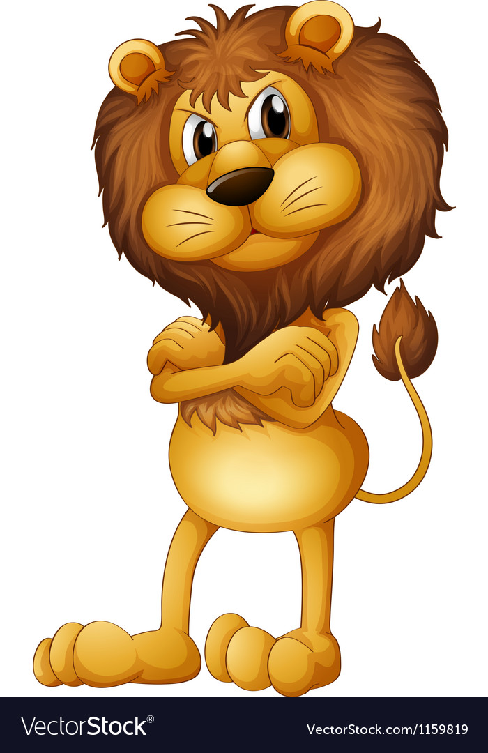 An angry lion vector | Price: 1 Credit (USD $1)