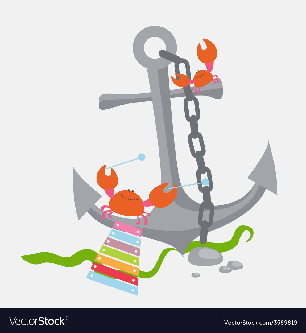 Anchor with crabs vector | Price: 1 Credit (USD $1)