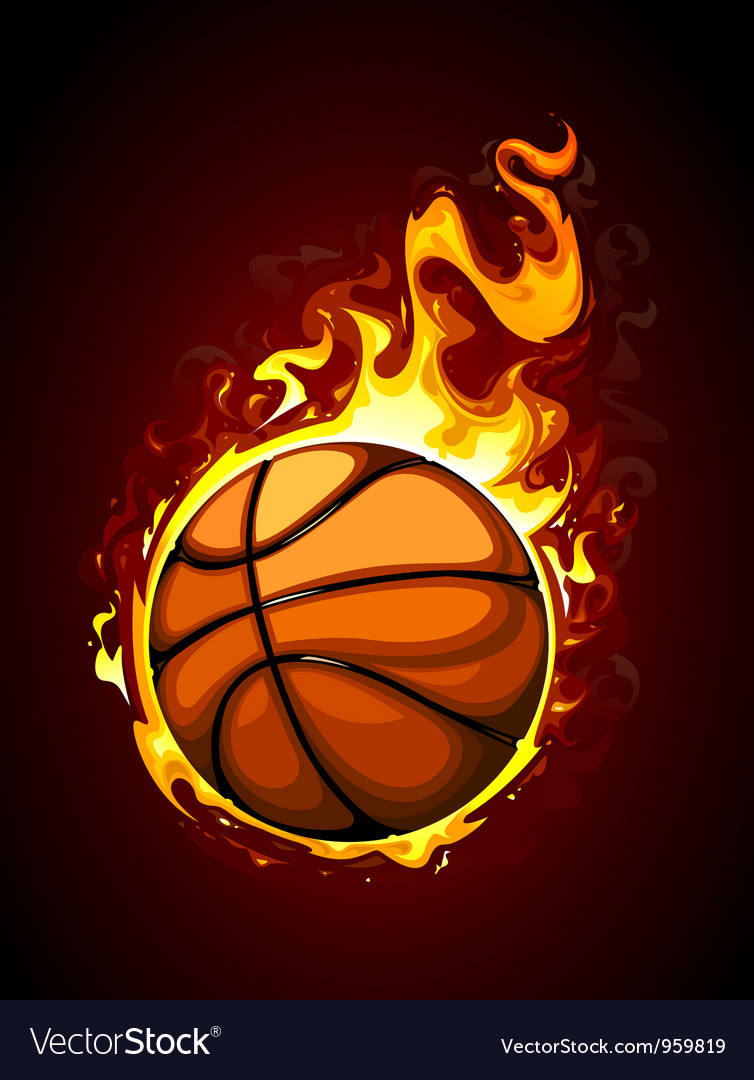 Burning basketball vector | Price: 3 Credit (USD $3)