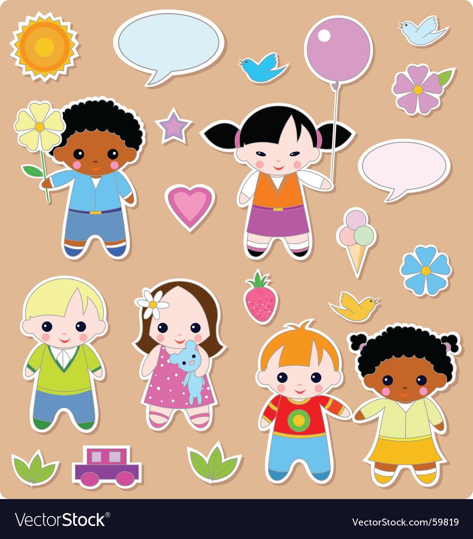 Children set vector | Price: 3 Credit (USD $3)
