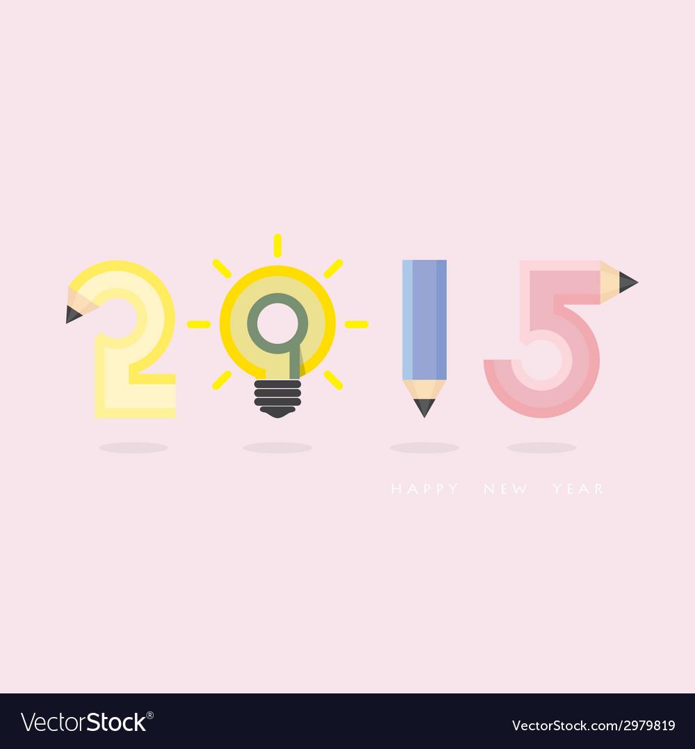 Creative happy new year 2015 text design vector   Price: 1 Credit (USD $1)