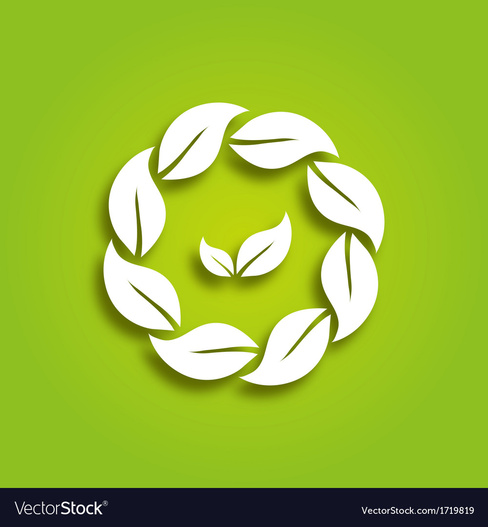 Eco paper leaves vector | Price: 1 Credit (USD $1)