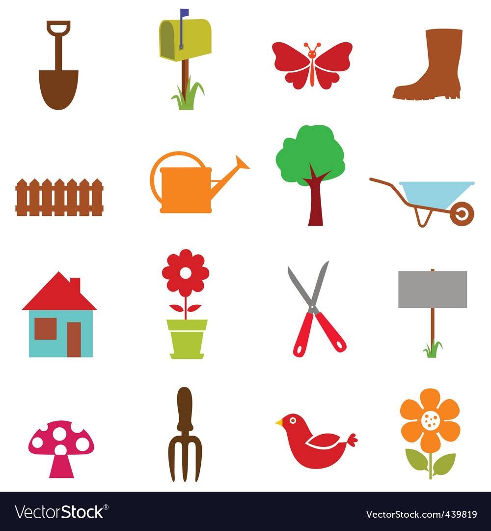 Garden icon vector | Price: 1 Credit (USD $1)
