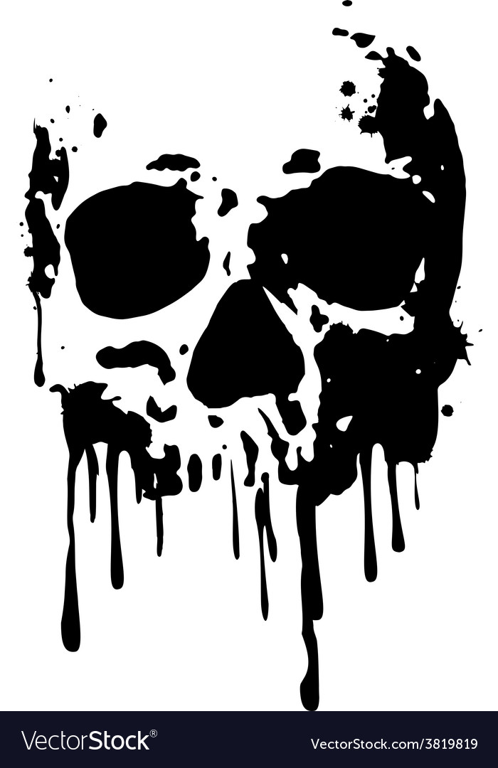 Skull blood2 vector | Price: 1 Credit (USD $1)