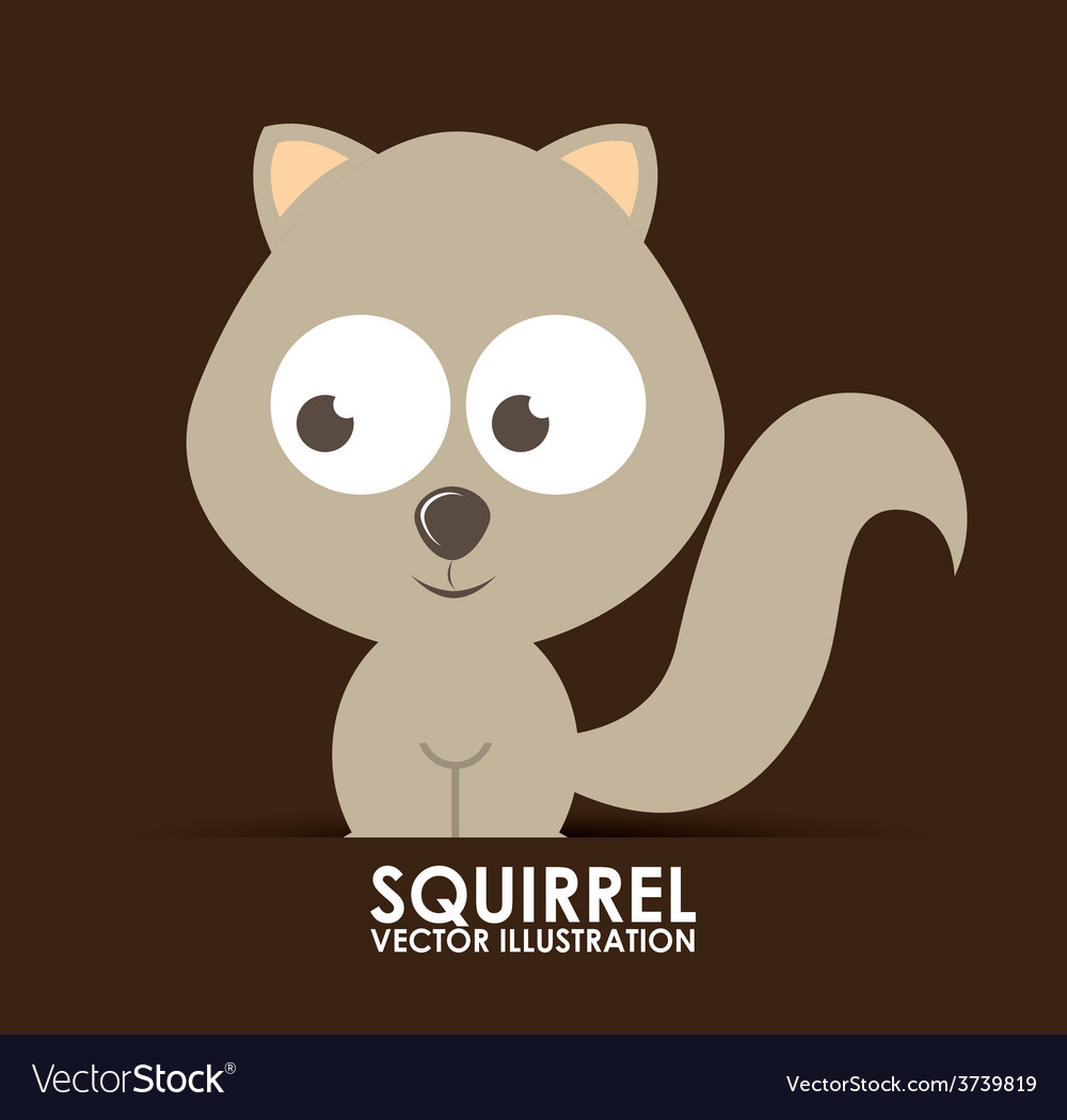 Squirrel design vector | Price: 1 Credit (USD $1)