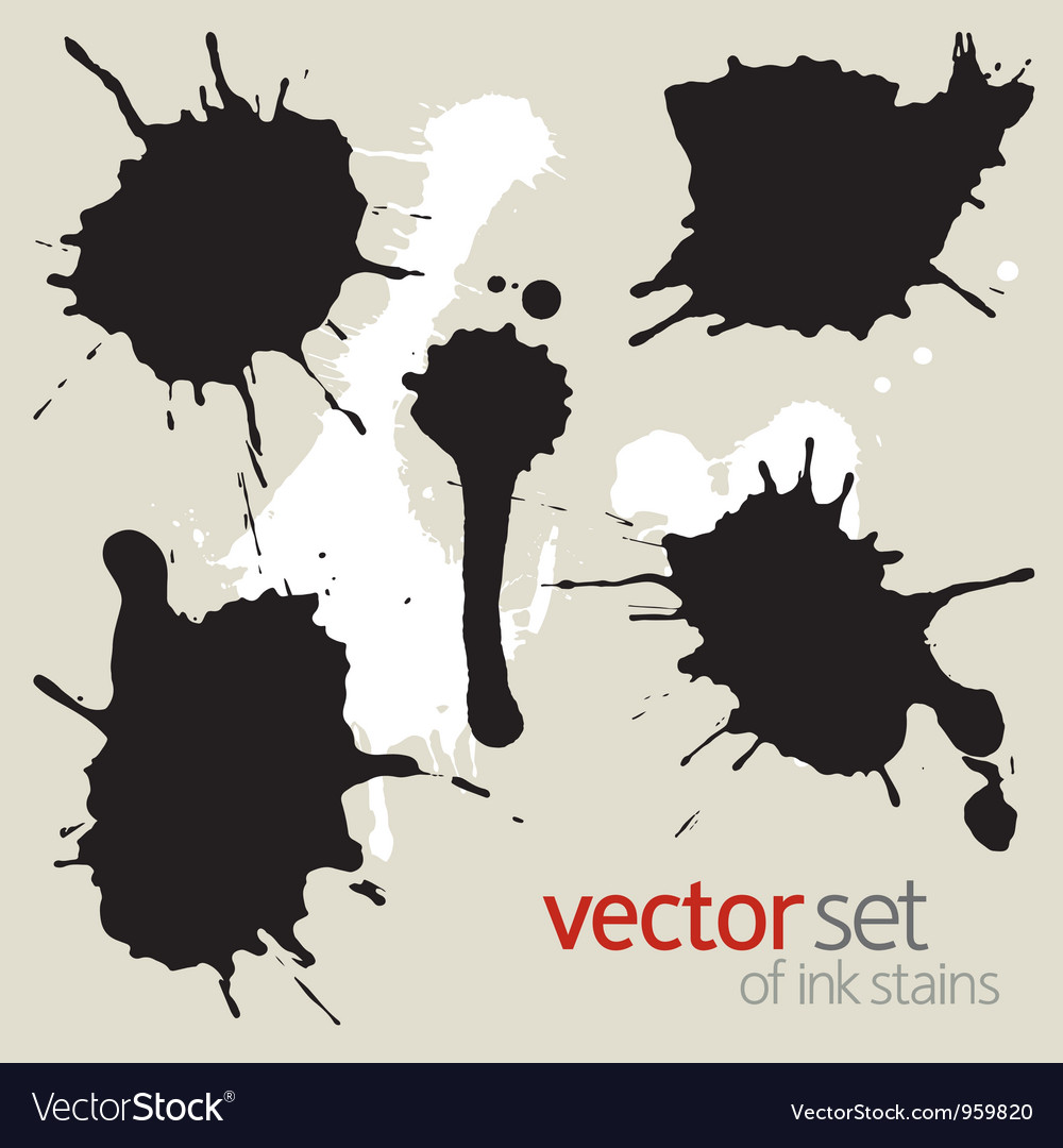 Black ink stains vector | Price: 1 Credit (USD $1)