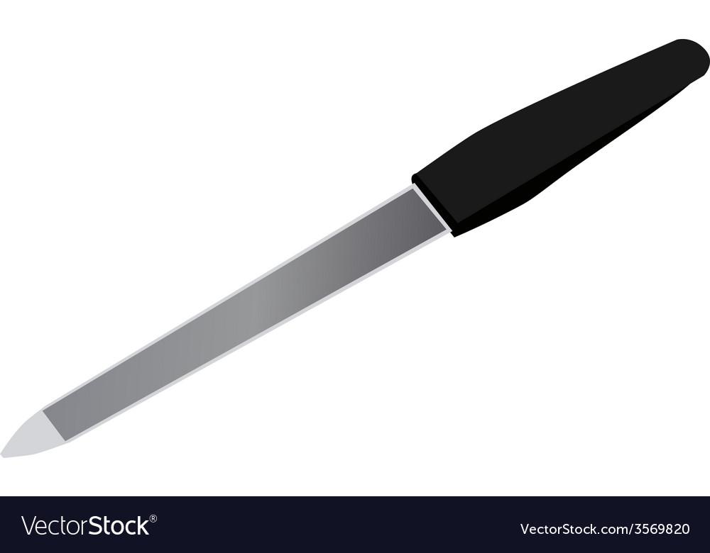 Black nail file vector | Price: 1 Credit (USD $1)