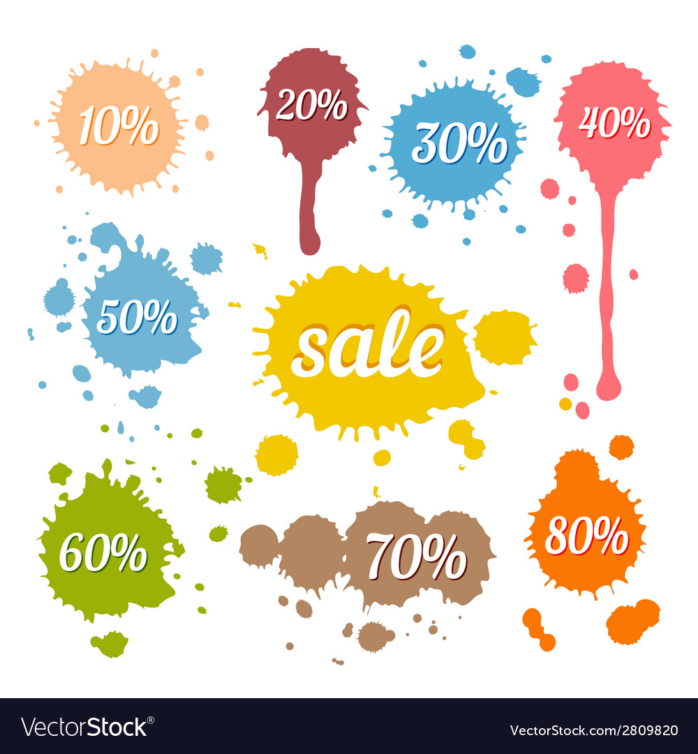 Discount and sale labels vector | Price: 1 Credit (USD $1)