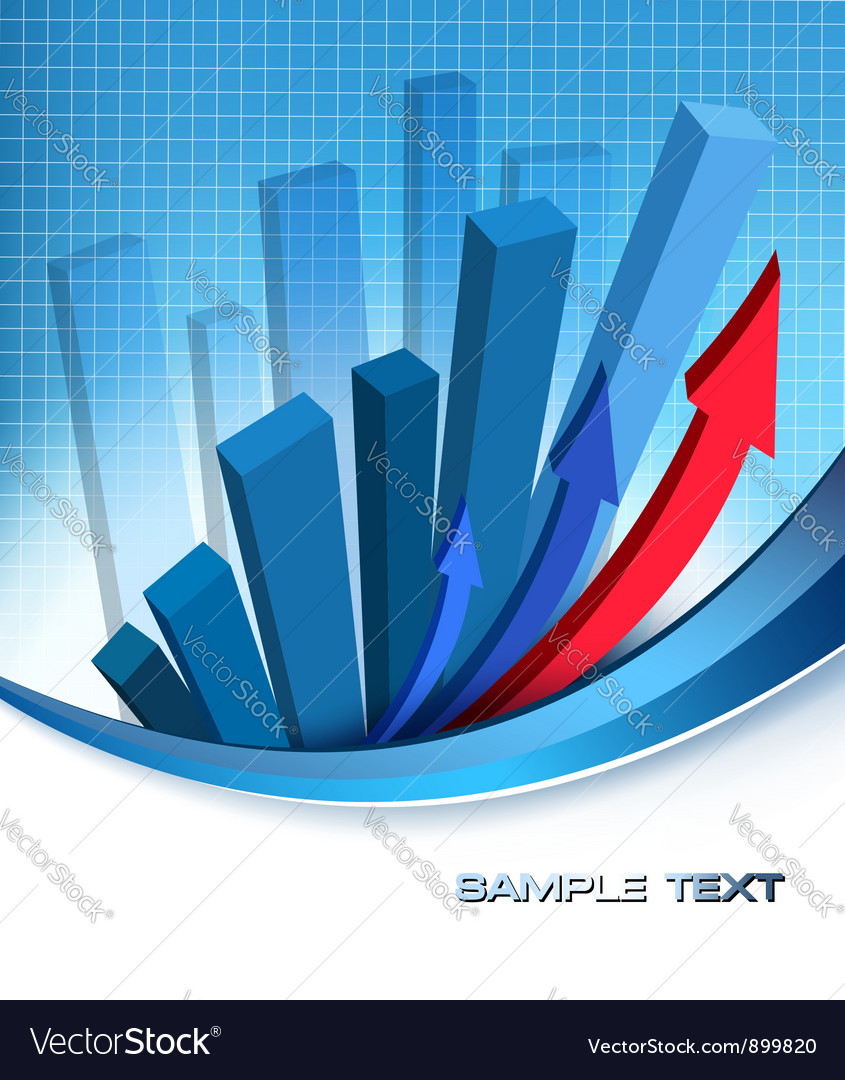 Financial graph vector | Price: 1 Credit (USD $1)
