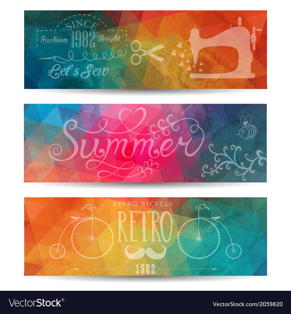 Grunge banner abstract header background triangl vector | Price: 1 Credit (USD $1)
