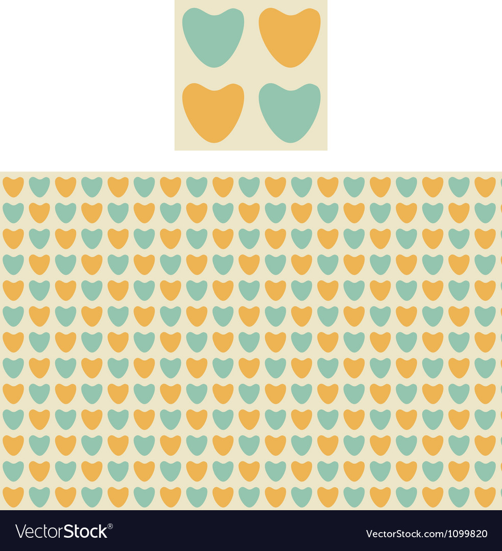 Hearts geometric pattern swatch vector | Price: 1 Credit (USD $1)