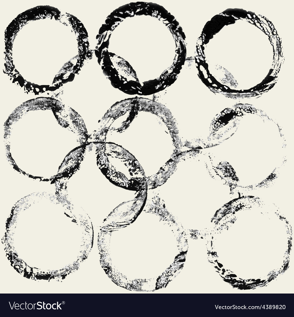 Ink grunge circles frame vector | Price: 1 Credit (USD $1)