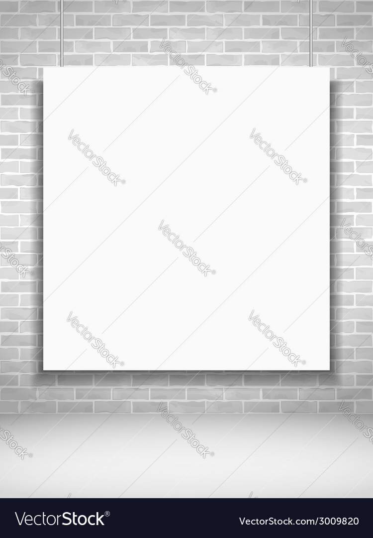 Poster on brick wall vector   Price: 1 Credit (USD $1)