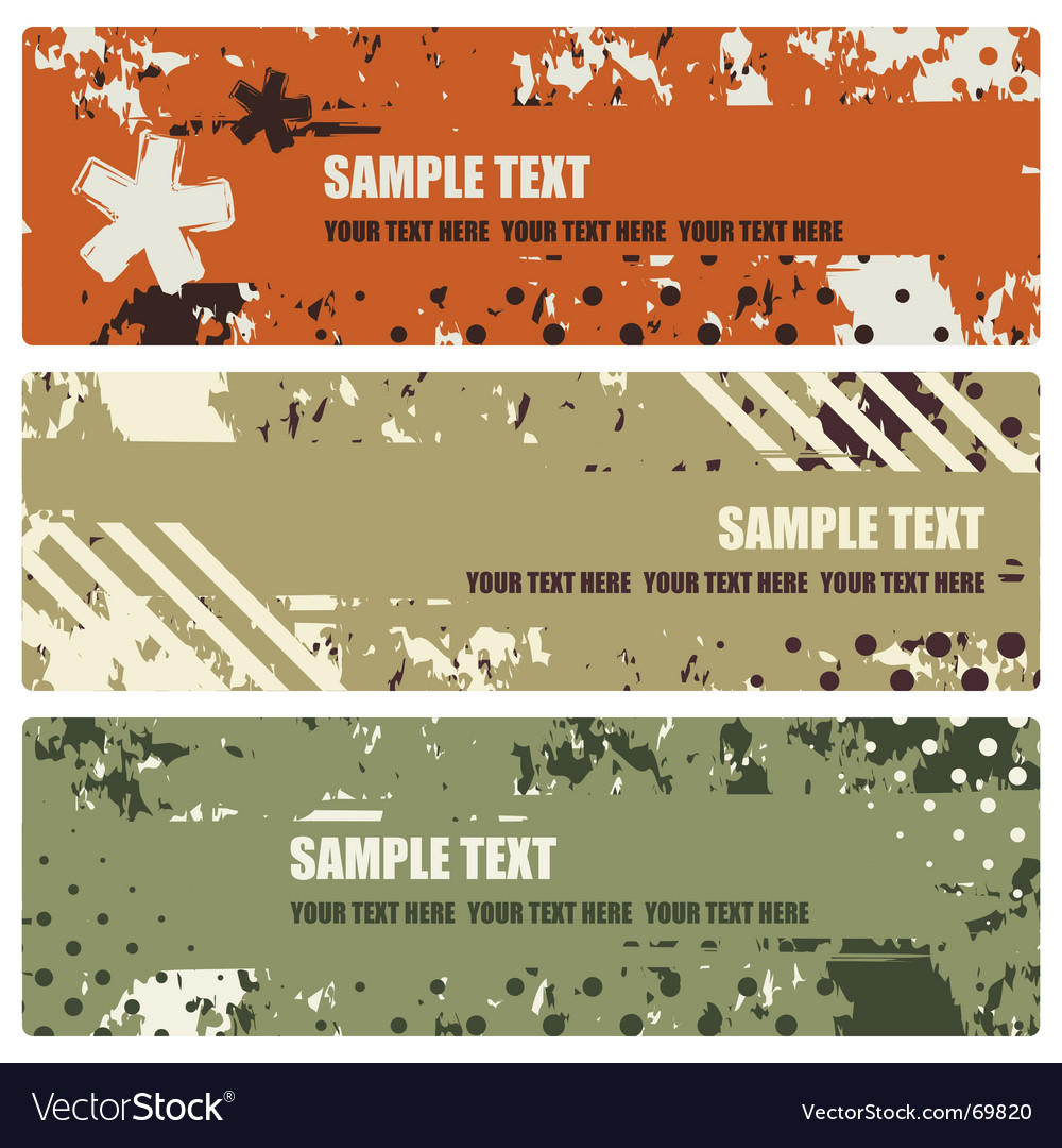 Set of grunge banners vector   Price: 1 Credit (USD $1)