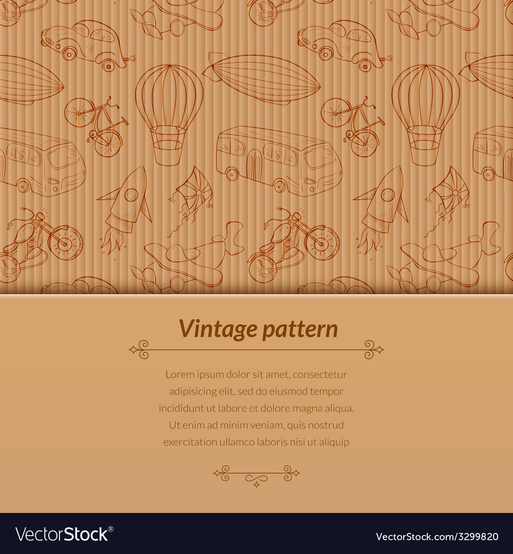 Sketches means of transport vintage with space for vector | Price: 1 Credit (USD $1)