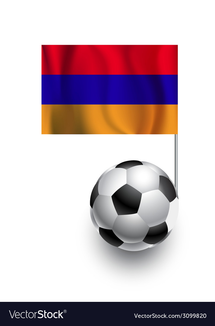 Soccer balls or footballs with flag of armenia vector | Price: 1 Credit (USD $1)