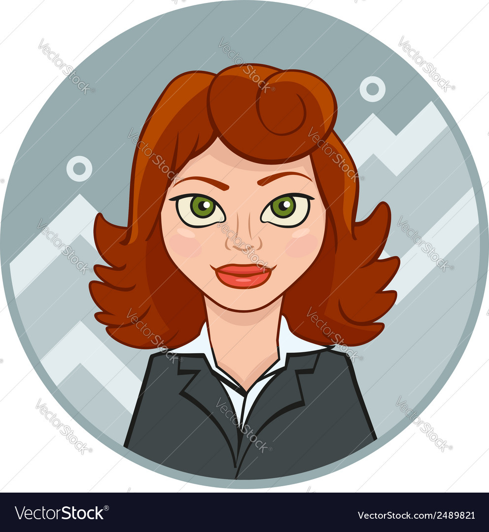 Beautiful young businesswoman with chart vector | Price: 1 Credit (USD $1)