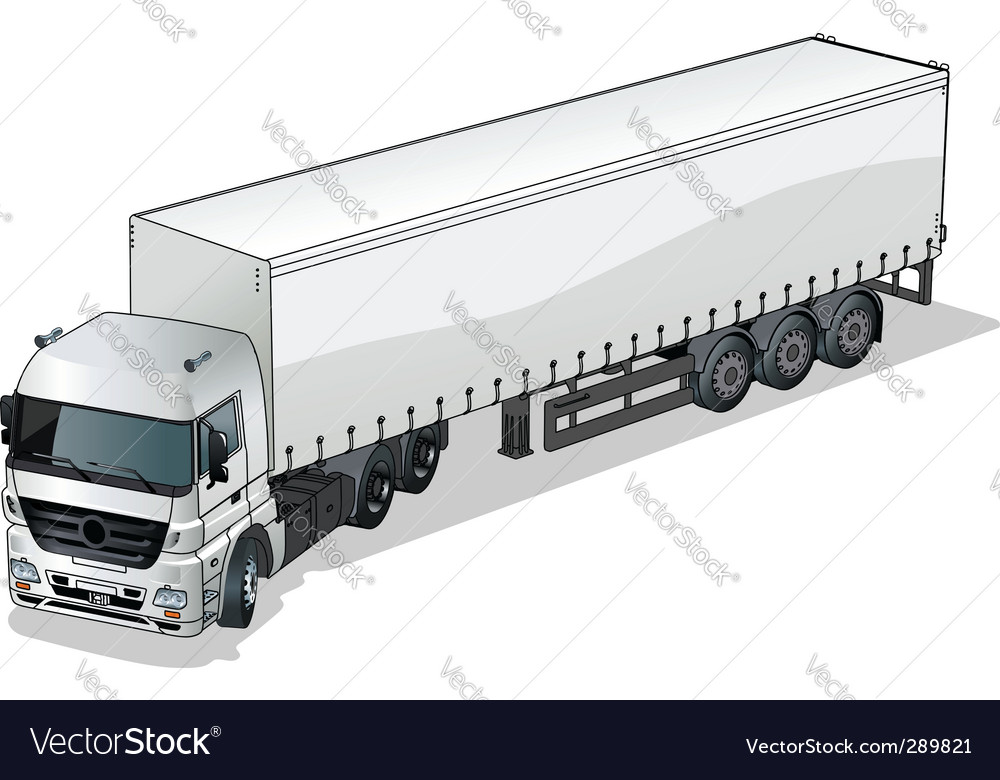 Cargo semi truck vector | Price: 3 Credit (USD $3)
