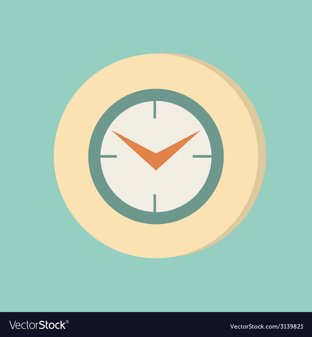 Clock icon watch symbol time vector | Price: 1 Credit (USD $1)