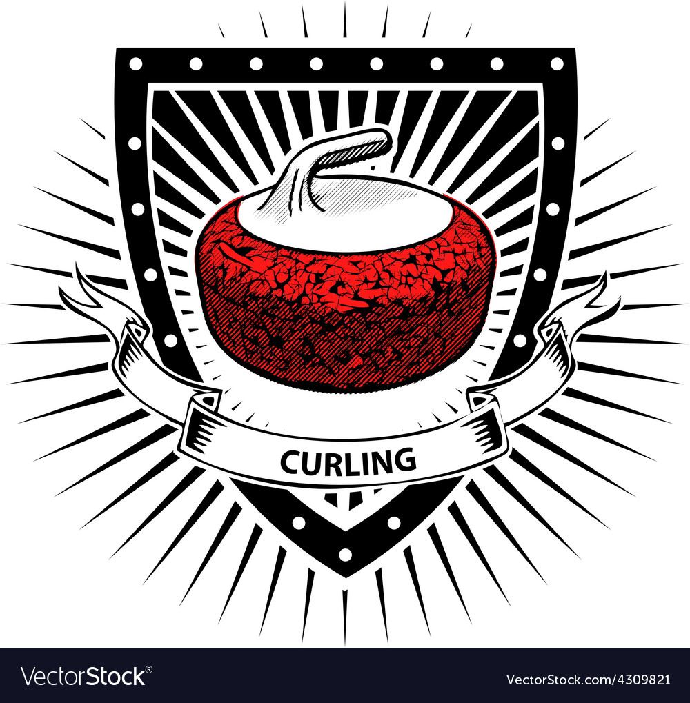 Curling shield vector | Price: 3 Credit (USD $3)